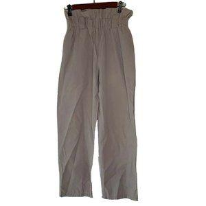 Cartonnier Womens Straight Leg Pants Gray Paper Ba